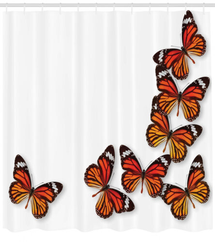 butterflies decoration monarch butterfly flying insect exotic shower curtain set