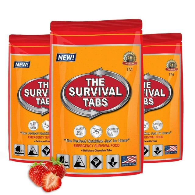 Survival Tabs 1 Day Food Storage Emergency Supply Survival Bag 1 Serving 2