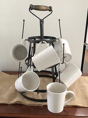 farmhouse coffee mug tree coffee cup rack vintage coffee cup holder rustic chic ebay