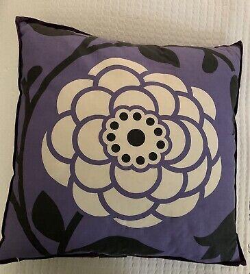 dwell studio for target throw pillow bird flower modern black white purple ebay
