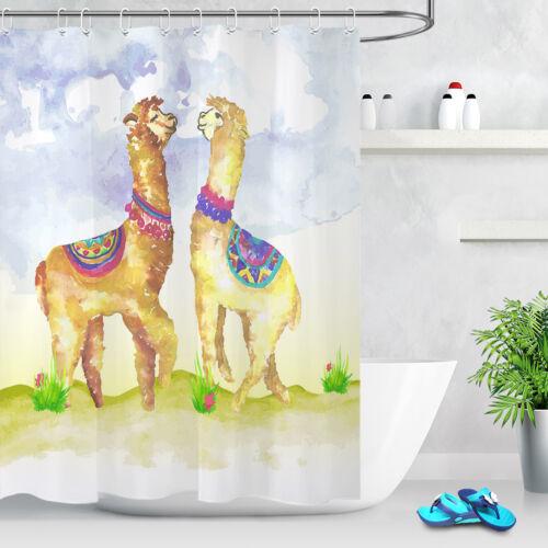 garden curtains tropical cactus animal alpaca 72 bathroom set fabric shower curtain liner hooks home garden
