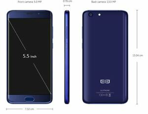 Elephone S7 4G Phablet - HELIO X25 VERSION BLUE 64GB Fingerprint 13MP DE Versio