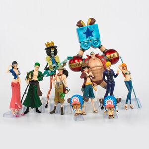 10PS/SET una pieza Mono * D * Luffy el Sombrero De Paja Piratas Anime Figura de Acción Juguetes