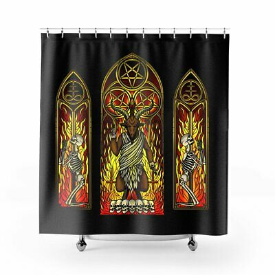 blackcraft cult sunday sermon baphomet satanic gothic shower curtain kc 207 2