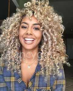 100 brazilian human hair wigs kinky curly blonde lace front wigs full lace wigs ebay