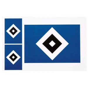 details zu aufkleberkarte 3 set sticker raute aufkleber hamburger sv hsv