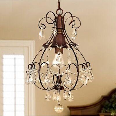 rustic chandelier lighting crystal 1 light fixture modern farmhouse pendant lamp ebay