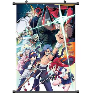 details about hot anime simon tengen toppa gurren lagann wall poster scroll cosplay 2810
