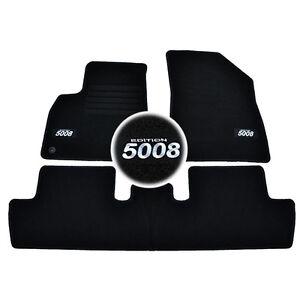details sur 4 tapis sol peugeot 5008 business style allure moquette sur mesure logo blanc