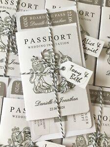 Passport Wedding Invitation Bundle