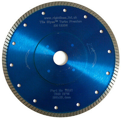 porcelain tile cutting diamond blade turbo 200 x 22 2 mm cuts hard tiles fast 5060472861603 ebay