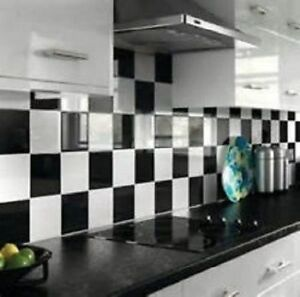 details about 50 mixed gloss black white 6 x 6 tile transfers kitchen bathroom easy apply