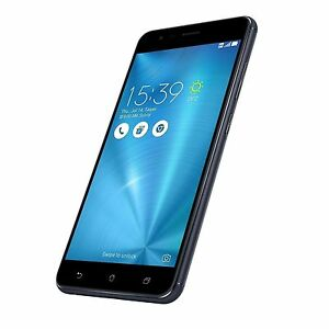"Asus Zenfone 3 Zoom ZE553KL 64GB Black Blue 5.5"" Dual SIM Android Phone ByFedEx"