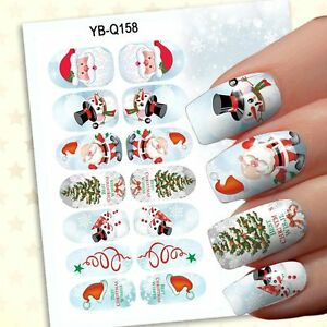 Christmas Design For Girls Nail Art Stickers Decals Nail Decoration 3D