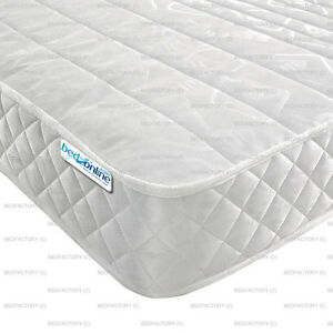 Image Is Loading 3ft Single Open Coil Micro Quilt Mattress Special