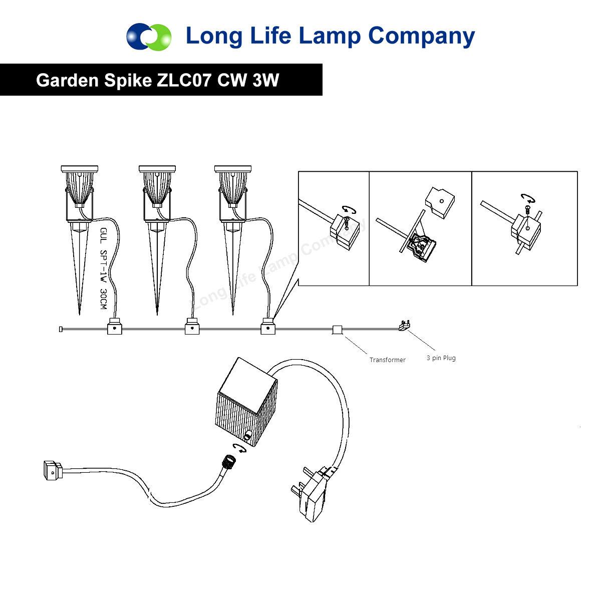 Led Garden Spike Light Kit 12v 3w Led Spike Easy Install