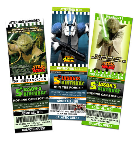 invitations announcements c3 personalized star wars the clone birthday party invitation ticket first 1st osi profisoundsysteme