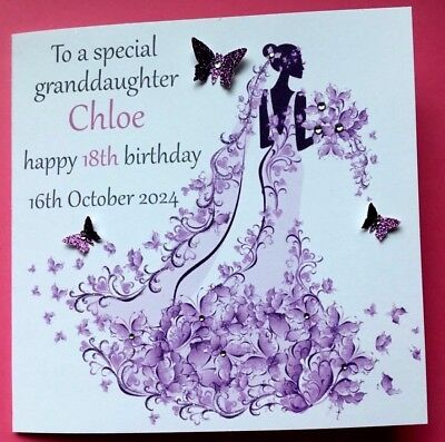 personalised handmade birthday card can