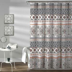 details about rustic chic bohemian boho geometric pattern colorful fabric shower curtain