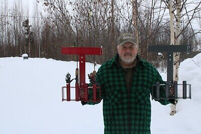 ice fishing rod or pole holder mountable to snowmobiles and atv s see video ebay