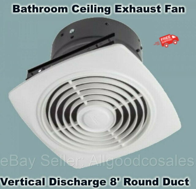 broan nutone 505 exhaust fan white vertical discharge ceiling ventilation 6 5