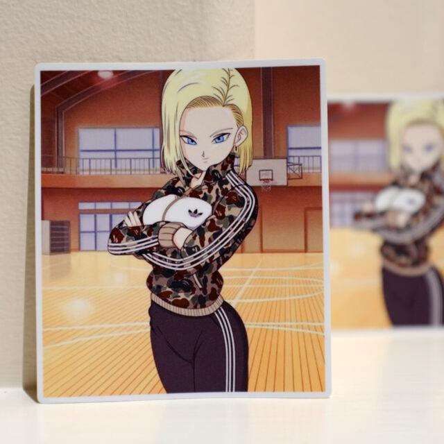 "Anime girls, aisaka taiga, toradora! adidas BAPE Android 18 Dragon Ball Z Anime Girl Comics 4"" Decal Sticker #3547 | eBay"