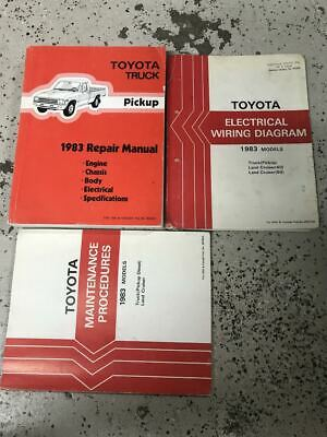 1983 toyota truck service shop repair workshop manual set w wiring diagram    ebay