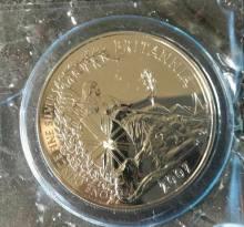 2 Pfund Britannia 2007   - 1 Oz Silber Britannia 1 Unze