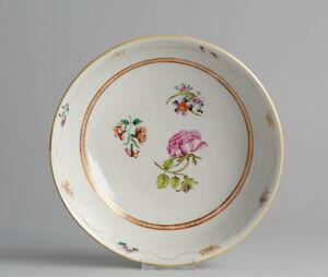 18th C Qianlong Famille Rose Lowestoft 29cm Bowl