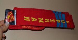 SUPERMAN Knee High Socks Sock Size 9-11 Officially Licensed DC Comic
