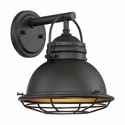 Nuvo Upton 1 Light Small Outdoor Wall Sconce Fixture Dark ... on Small Wall Sconce Light id=73495