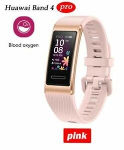NEW Huawei Band 4 PRO SmartBand Heart Rate GPS SpO2 Blood Oxygen Smartwatch Pink