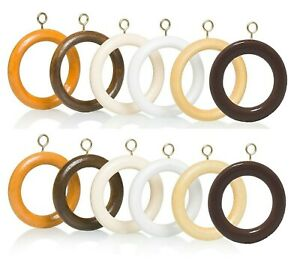 details about wooden curtain rings wood 5 colours 2 sizes bulk order multi buy discount