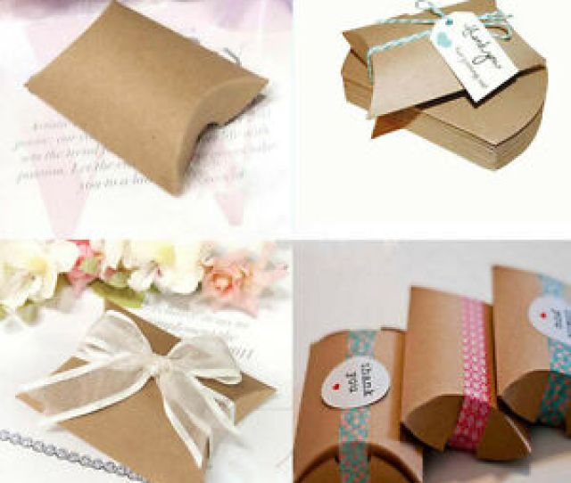 Image Is Loading 20 50pcs Pillow Shape Favor Gift Box Wedding