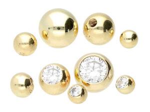 750 ECHT GOLD *** Kugel Schraubkugel Piercing-Ersat