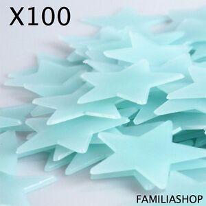 details sur lot 100 etoiles phosphorescentes bleues lumineuse la nuit deco chambre enfant