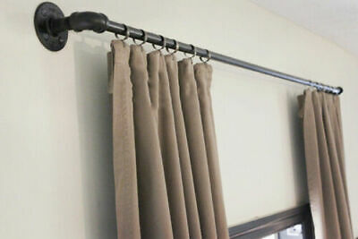 vorhang stange beschneiden schiene industrielle vorhang schiene steampunk vintage vorhang ebay