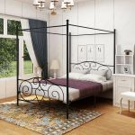 Carbon Loft Cara King Metal Canopy Bed For Sale Online Ebay