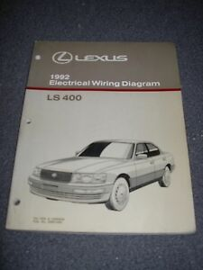 1992 LEXUS LS400 Electrical Wiring Diagram Service Manual