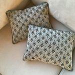 Ralph Lauren Pierce Black Onyx Silver Beaded Pillow Decorative Accent 12x16 Ebay
