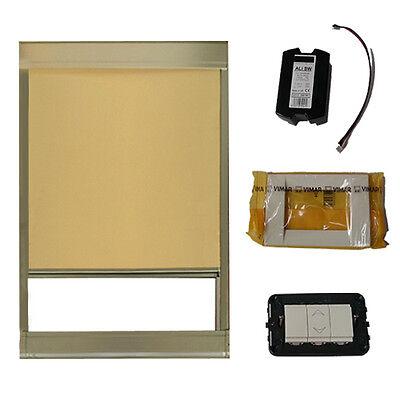 E guide in metallo in vari colori; Tenda Elettrica Oscurante Da Interno Per Lucernari E Finestre Per Tetti Eluma Ebay
