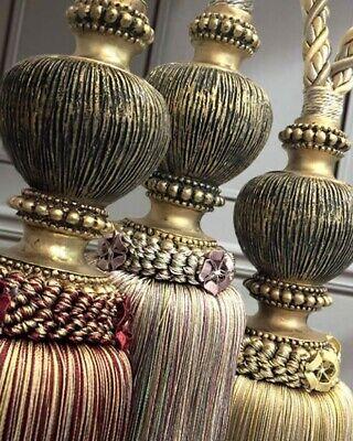 pair of hb112 large florentine luxury rope tassel curtain tie backs 11 colours ebay