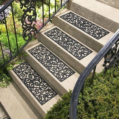 Rubber Step Mats Non Slip Stair Traction Treads Heavy Duty Indoor | Decorative Outdoor Stair Treads | Stone | Interior | Non Slip | Modern Exterior Stair | Fancy