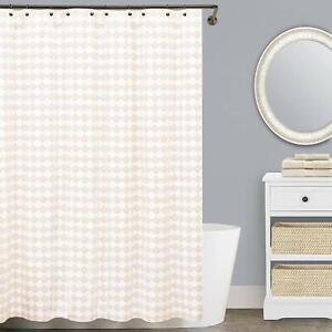 details about lamont home finley matelasse long shower curtain beige white 72 x 84