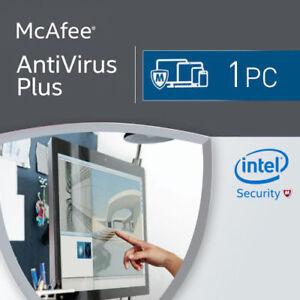 McAfee Antivirus Plus 2020 1 PC 12 Months License Antivirus 2019 1 user US