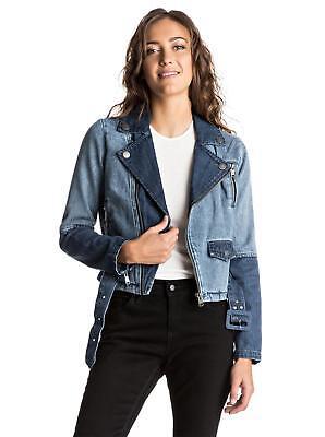 Roxy OGEIA DENIM JACKET Womens Denim Jacket New Rrp $139.99 - Light Blue