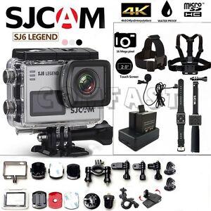 100% Original SJCAM SJ6 LEGEND Touch Screen WiFi 4K Action Sport Camera Kit CFUS