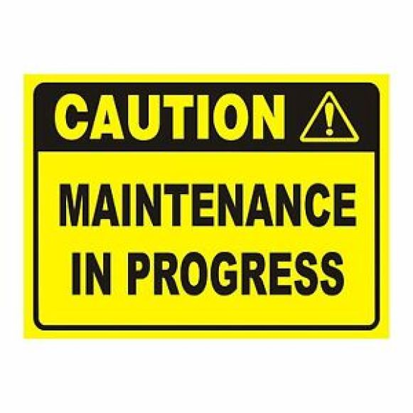 Caution Maintenance in progress Work Place Health & safety sign oh&s Work  Decal | eBay