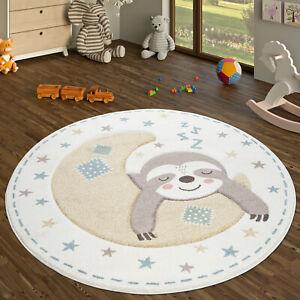 details sur tapis rond chambre d enfant tapis pour enfants poils ras avec design paresseux c