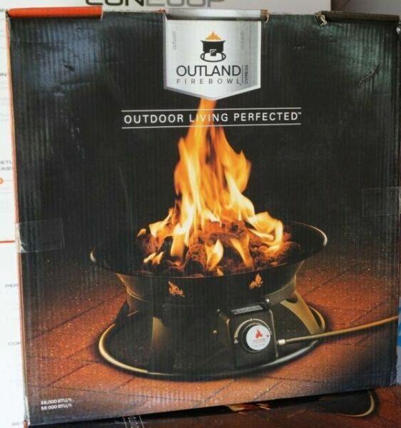 "Outland Firebowl Cypress 21"" Portable Propane 58,000 BTU ... on Outland Living Cypress Fire Pit id=47213"